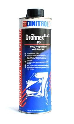 Купить Dinitrol 445 (1 литр, евробанка) Антигравий черный окрашиваемый