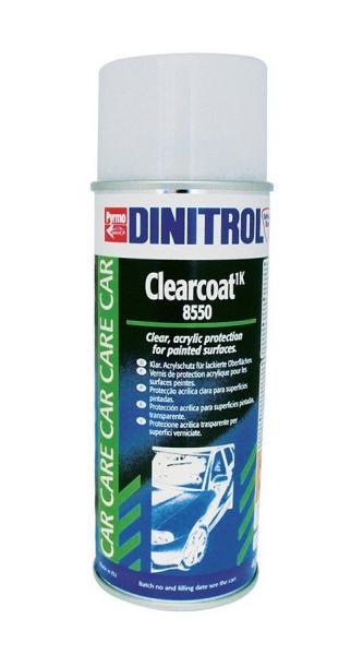 Купить Dinitrol 8550 (0.4 л. аэрозоль) Лак прозрачный, для защиты лаковых поверхностей