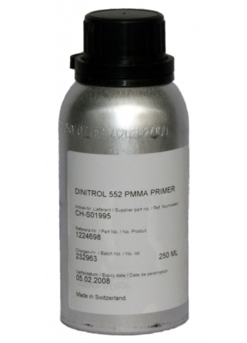 Купить Dinitrol 552 PMMA Primer (250 мл, бутылка) Праймер грунт черного цвета