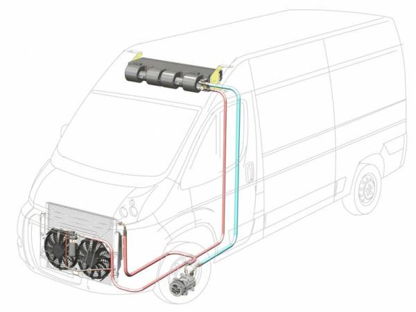 Купить Автокондиционер Элинж с передним расположением конденсора 6 кВт для а/м Fiat Ducato