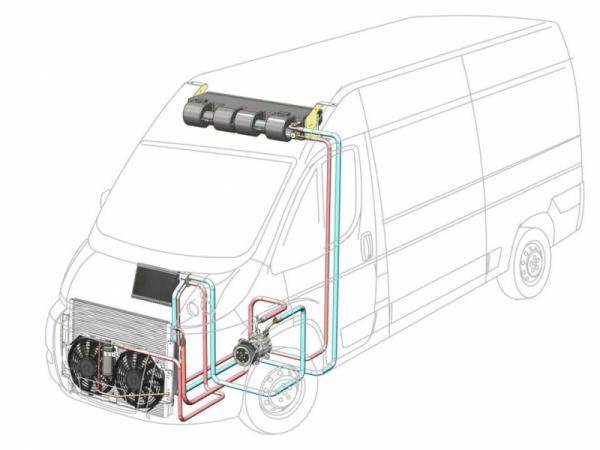 Купить Автокондиционер Элинж с передним расположением конденсора 9 кВт для а/м Fiat Ducato